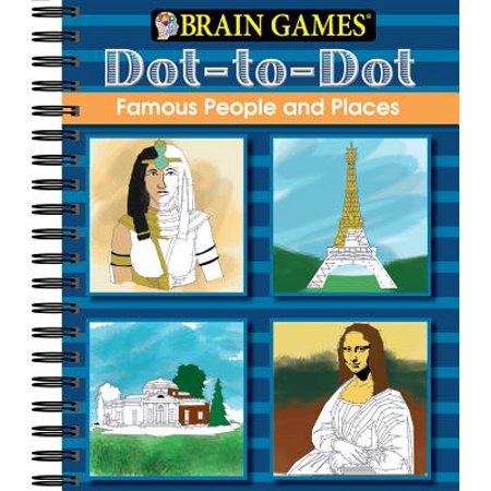 Brain Games Dot to Dot Famous People and Places](Brain Games Dot To Dot)