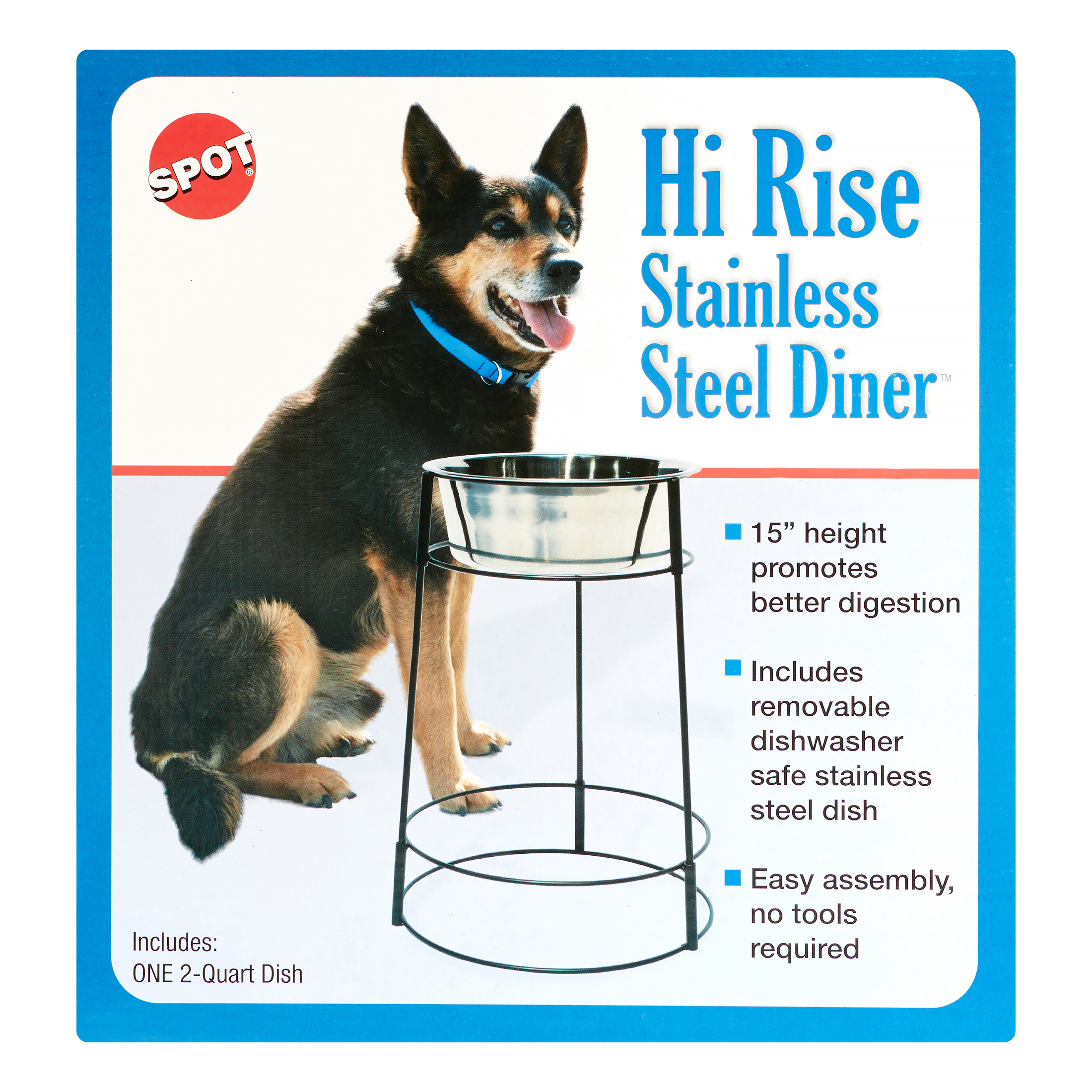 Ethical Pet Hi-Rise Single Elevated Pet Bowl, 64 Oz