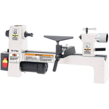Shop Fox W1704 8 by 13 Inch Benchtop Variable Speed Cast Iron Wood Lathe,