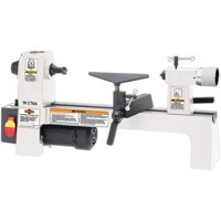 Shop Fox W1704 8 by 13 Inch Benchtop Variable Speed Cast Iron Wood Lathe, White