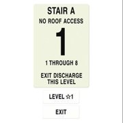 INTERSIGN NFPA-PVC1812-X(A1N8) NFPASgn,StairIdA,RoofAccssN,FlrsSrvd1to8