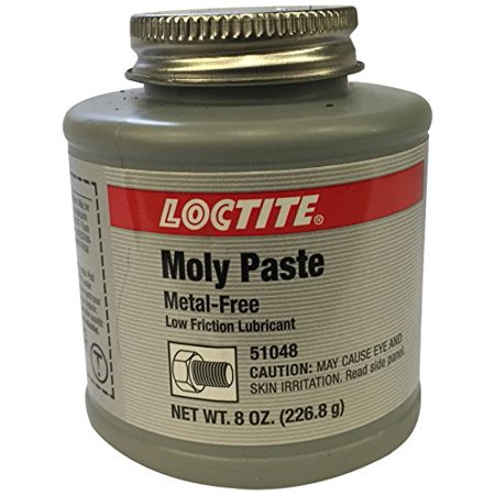 - Lubricant Very Low Friction Moly Paste Metal Free Anti Seize Compound 8 oz
