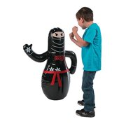 Inflatable Ninja Punch Bag (36 Inches) Bounces Right Back.