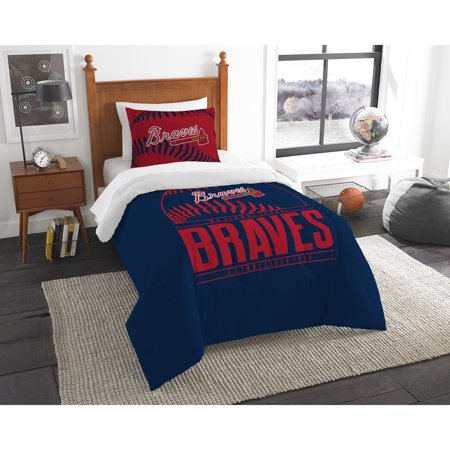 Atlanta Braves The Northwest Company Grand Slam Twin Comforter Set - No - Braves Atlanta
