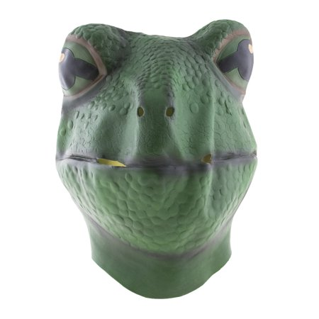 Realistic Latex Full Frog Mask Amphibian Bullfrog Head Animal Face Halloween