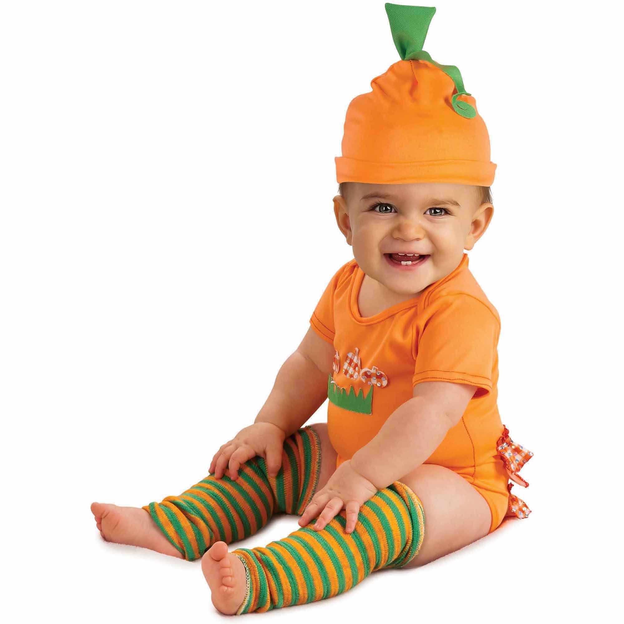 Pumpkin Onesie Infant Halloween Costume, Size 6-12 Months