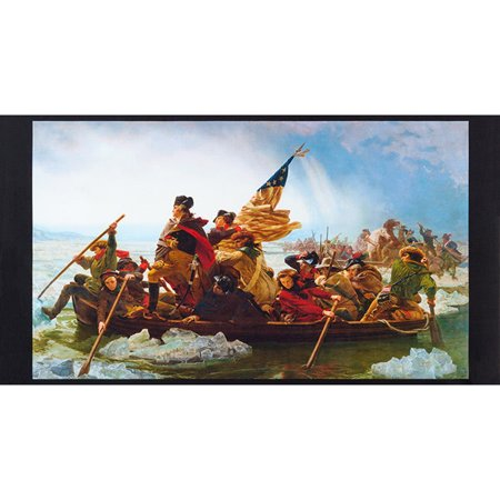 Robert Kaufman Patriots Digital George Washington Crossing Delaware (George Fabric)