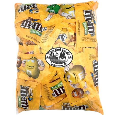 - M&Ms Peanuts Milk Chocolate Candy Fun Size Bulk (3 pound Bag)