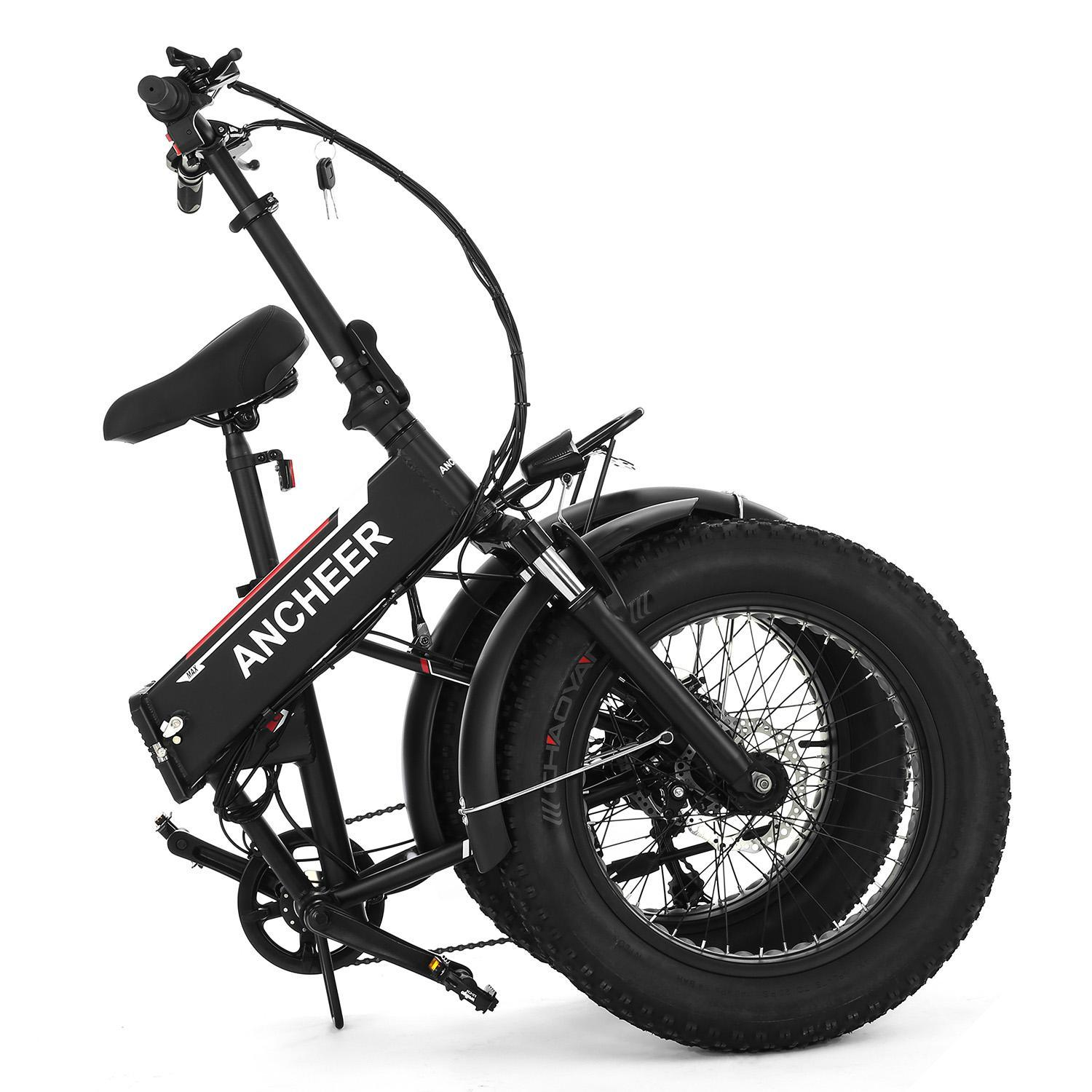 20 inch Folding Electric Bikes Fat Tire 6-Speed E-bike Snow Mountain Bicycles with 48V Lithium Battery PAGACAT