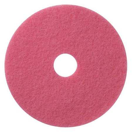 "Tough Guy 6YMP2 13"" Pink Recycled Plastic Polyester Fiber Recycled Scrubbing Pad"