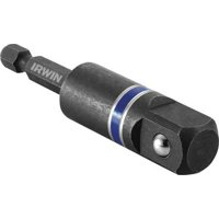IRWIN 1899888 Socket Adapter,1/4 Hex to 1/2 Sq.,3 In