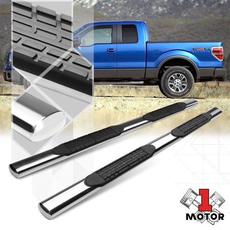 """Chrome 4""""Oval Side Step Nerf Bar Running Board for 04-14 Ford F150 Super/Ext Cab 05 06 07 08 09 10 11 12 13"""