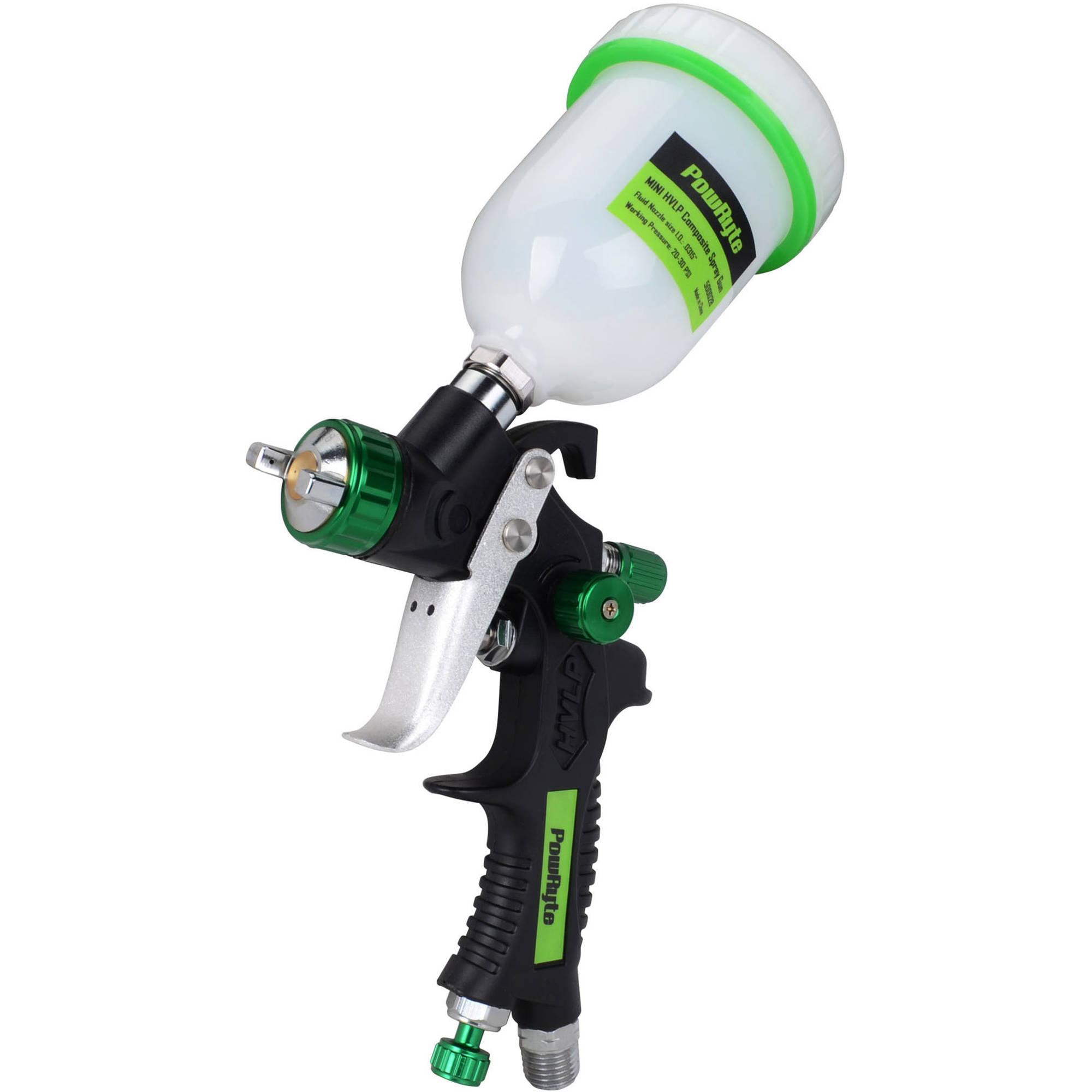 PowRyte 500028 Elite 4.2 Oz Composite Mini HVLP Gravity Feed Air Spray Gun, 0.8mm Nozzle