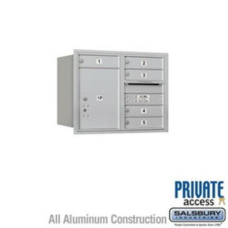 4C Pedestal Replacement Parcel Locker Door & Tenant Lock for Standard 6 High with 3 Keys, Gray