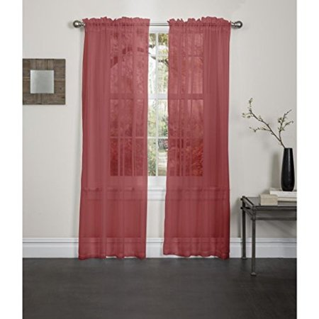 kashi home lisa solid sheer rod pocket single curtain panel