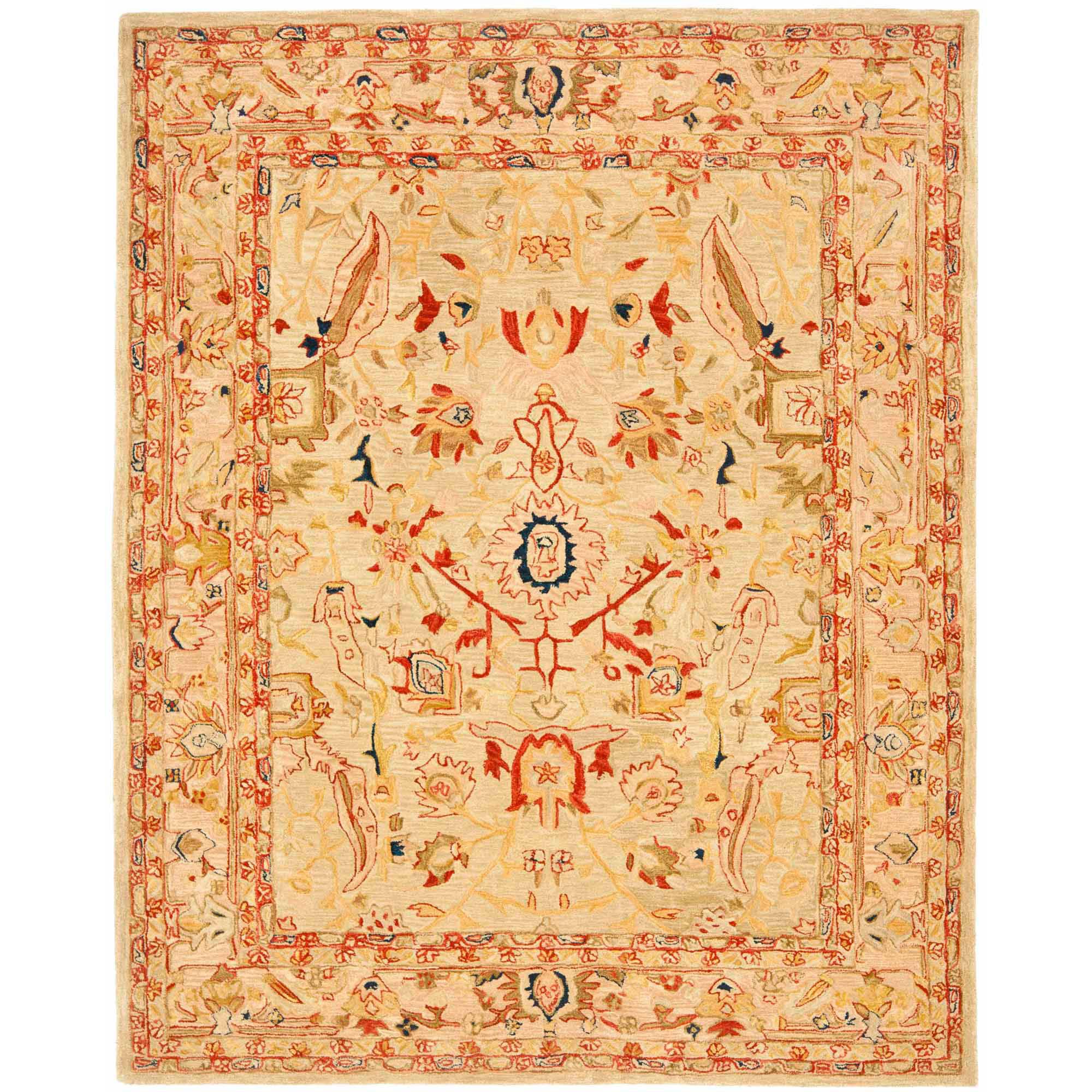 Safavieh Anatolia Vance Hand-Tufted Wool Area Rug, Ivory/Beige