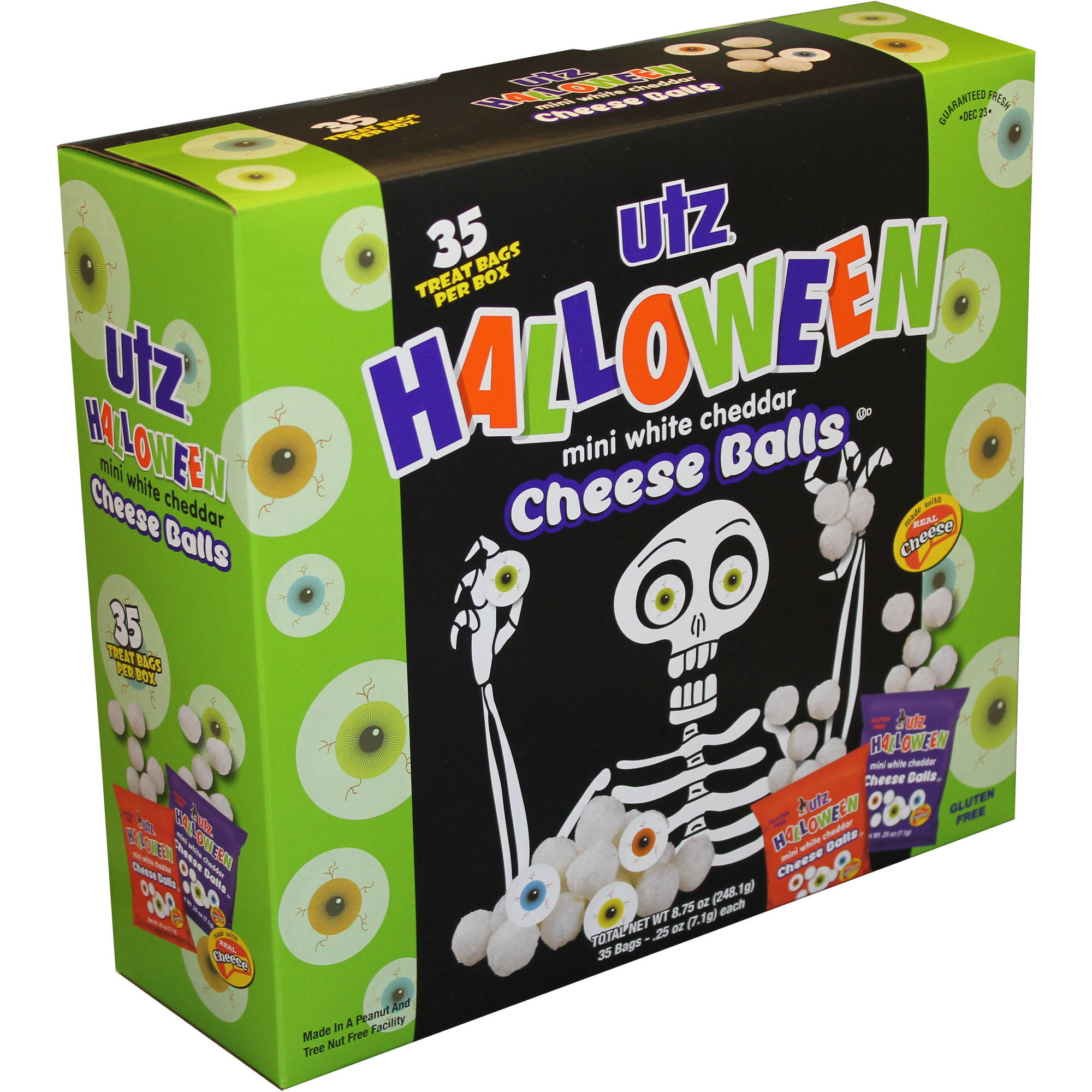 Utz Halloween Mini White Cheddar Cheese Balls, .25 oz, 35 count