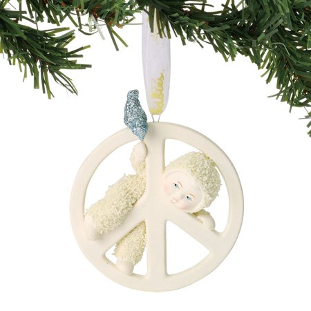 Snowbabies Celebrations 6001865 Peace Baby - Peace Sign Ornaments