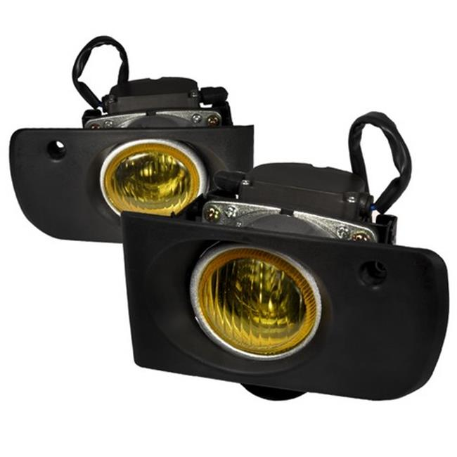 2 by 4 Door OEM Style Fog Lights for 94 to 97 Acura Integra, Yellow - 10 x 10 x 12 in.