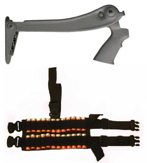 ATI TFS0600 Destroyer Gray Grey Mossberg 500 535 590 835 12 Gauge Shotgun Buttstock Stock + Ultimate Arms Gear 24 Shot... by