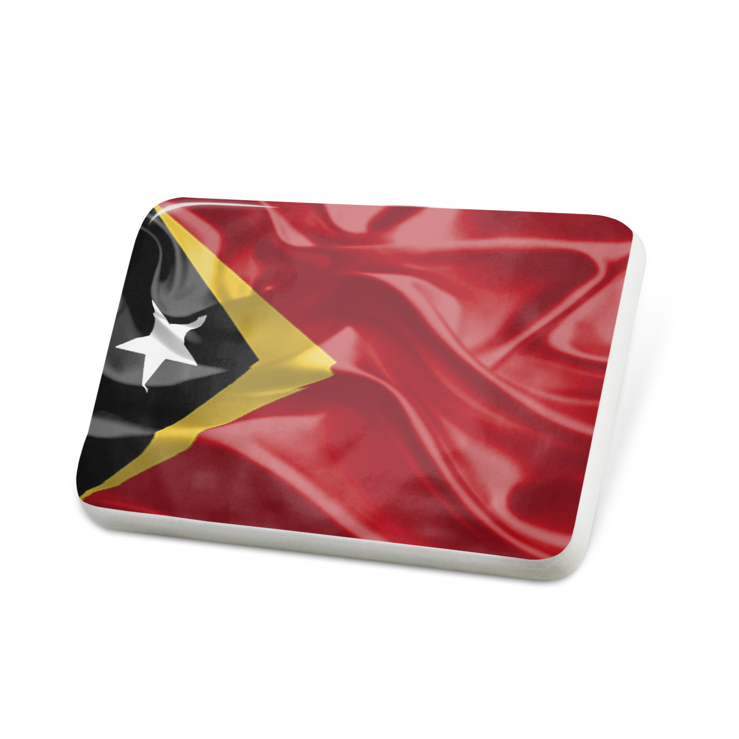 Porcelein Pin Timor-Leste 3D Flag Lapel Badge – NEONBLOND