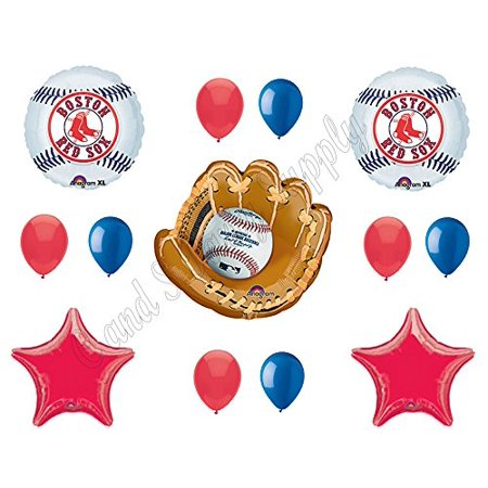 BOSTON RED SOX Happy Birthday Party Balloons Decoration Supplies Game Day