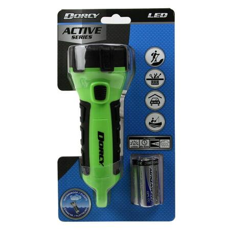 Dorcy 55 Lumen Floating Waterproof LED Flashlight with Carabineer Clip Dorcy, Neon Green (41-2513)