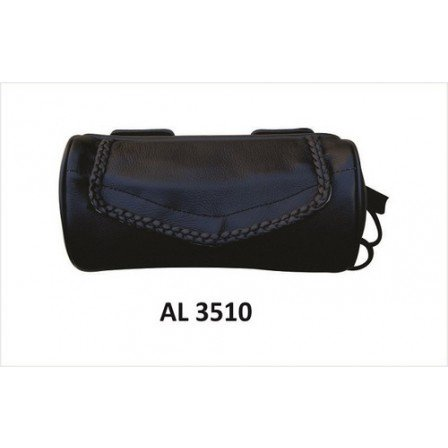 Motorcycle Luggage Travel Soft Leather Tool Bag With