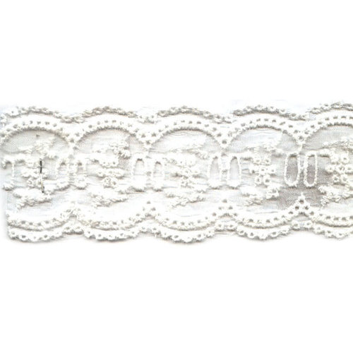 Berwick Offray Antiquity White Lace Ribbon