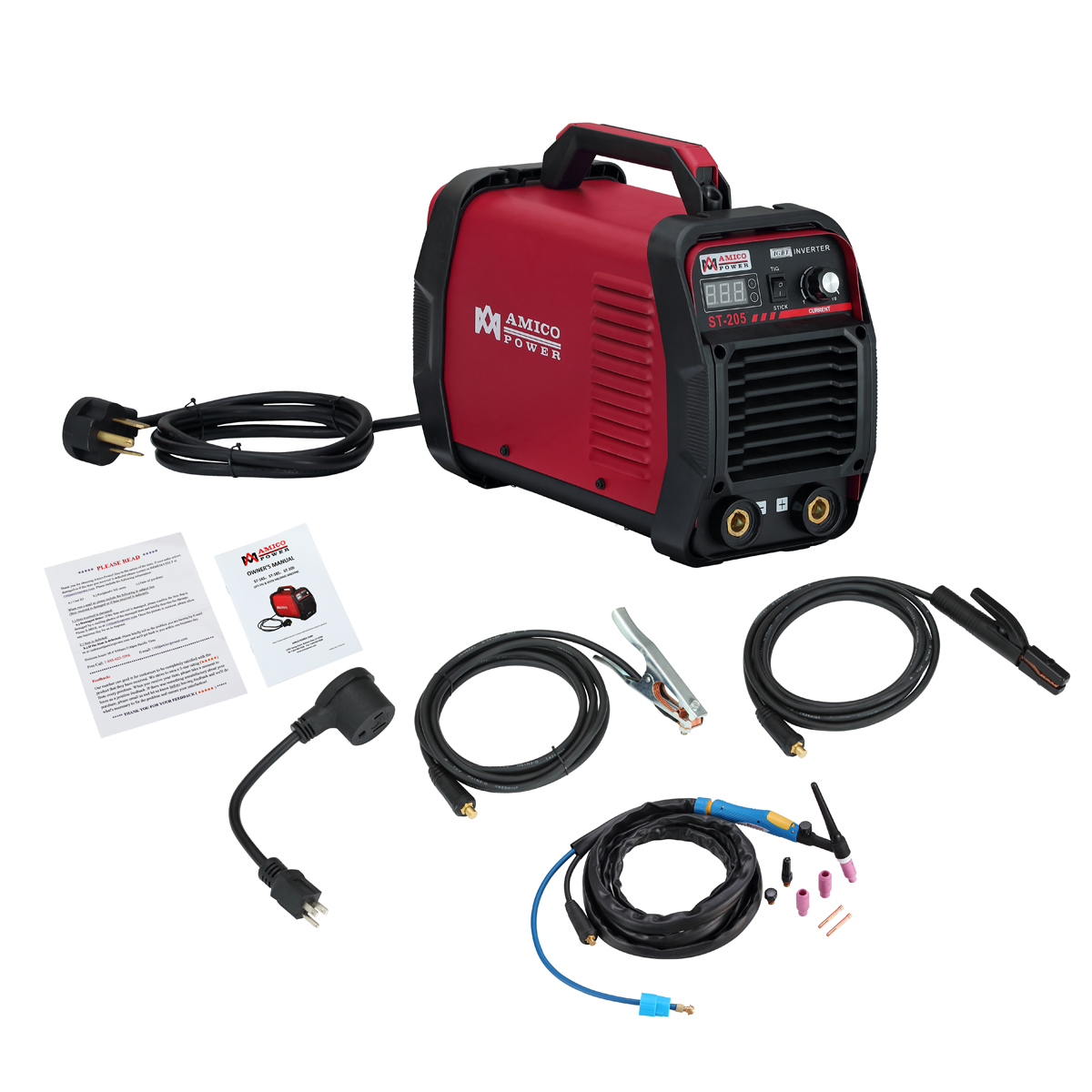 Click here to buy Amico ST-205 205 Amp Lift-TIG Stick Arc Welder 115 & 230V Dual Voltage Welding by Amico Power Corp..