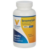 The Vitamin Shoppe Bromelain 500MG  2,000 GDU, Supports Protein Digestion  Absorption, Enzyme Sourced from Pineapples (180 Tablets)