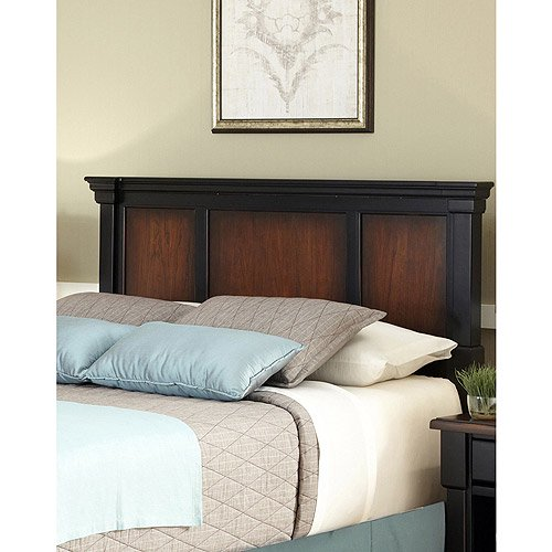 Home Styles The Aspen Collection King California King Headboard Rustic Cherry Black