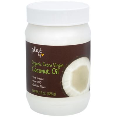 plnt Organic Extra Virgin Coconut Oil  Cold Pressed, NonGMO  Perfect For Cooking, Delicious Flavor, 30 Servings per Container (15 Ounces