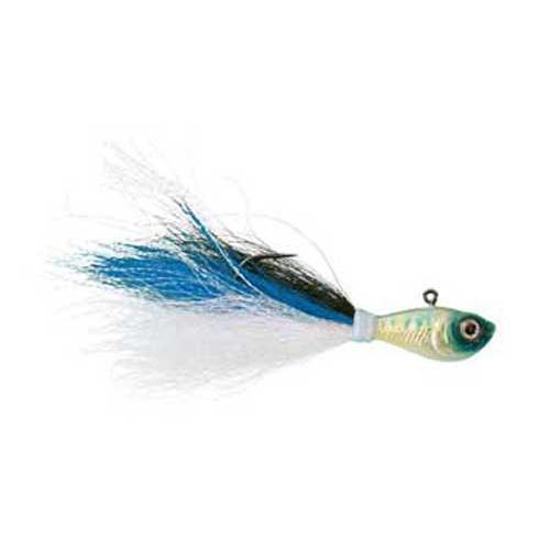 WAHOO FISHING PRODUCTS Wahoo Baitfish Bucktail Jig 1 2oz Blue Shad WAH-SLV12PCH by