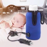 LAFGUR Baby Bottle Car Warmer, Baby Bottle Car Heater,Portable DC 12V In-car Baby Feeding Bottle Water Milk Cup Heater Warmer for Traveling
