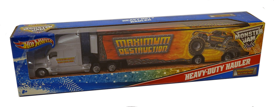 MAXIMUM DESTRUCTION Hot Wheels Monster Jam Heavy-Duty Hauler by Mattel