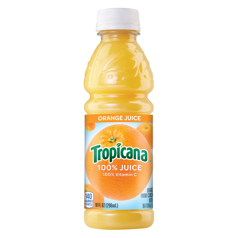 Tropicana 100% Juice, Orange, 10 Fl Oz, 6 Count