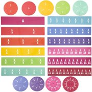 21 Pack Magnetic Rainbow Fraction Tiles and Circles, Fraction Bars Early Math Manipulative for Classroom, Education Kit for Kids, Teaching Aids