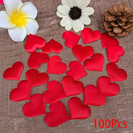 100pcs Love Heart Shape Design Flower Petals Wedding Engagement Confetti Table Decor