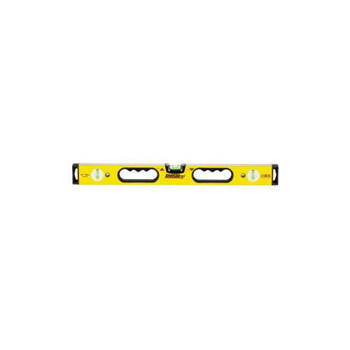 Johnson Level 9832-HH 32 inch Aluminum Box Beam Level with Hand Holes - 3 Vial