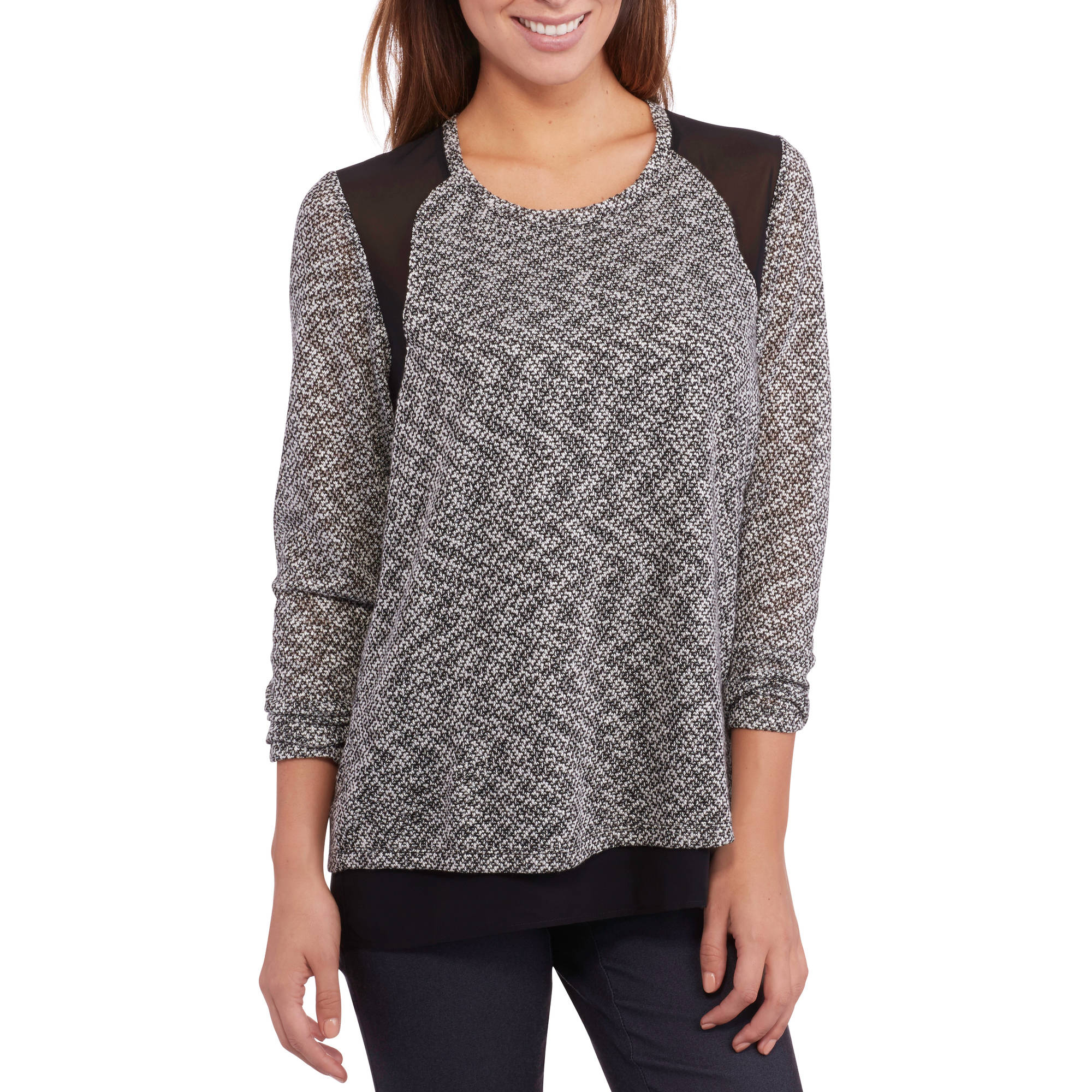 Tru Self Women's High-Low T-Shirt with Elbow Patch
