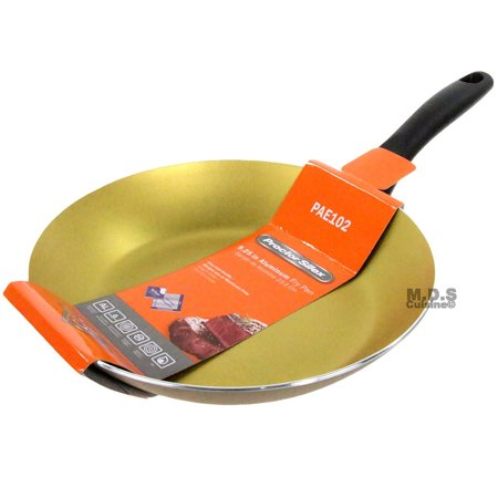 """Fry Pan Non Stick 9"""" Inch Teflon Golden Aluminum Stay Cool Handle Skillet New"""