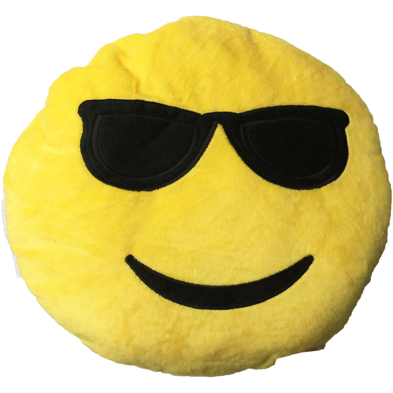 Smily Face with Cool Sunglasses Emoji Cushion