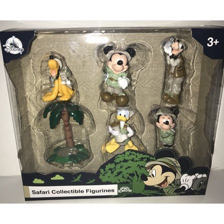 Disney Parks Mickey & Friends Safari Figure Cake Topper Playset Play Set