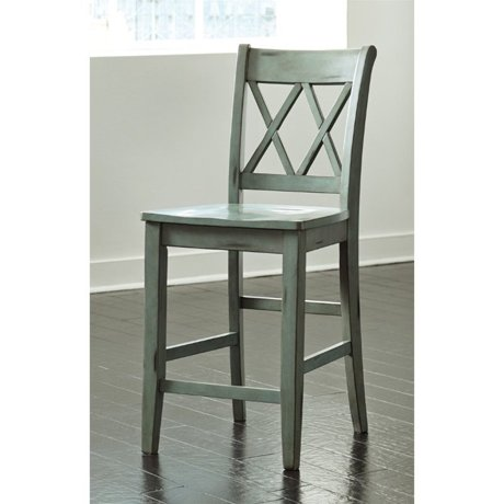 Ashley mestler 24 counter stool in antique blue and green for Meuble ashley circulaire