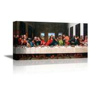 "wall26 - The Last Supper by Andrea Solari - Canvas Art Wall Decor - 24"" x 48"""