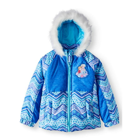 Elsa and Anna Puffer Coat with Fur Trim Hood (Little Girls) (Anna From Frozen As A Little Girl)