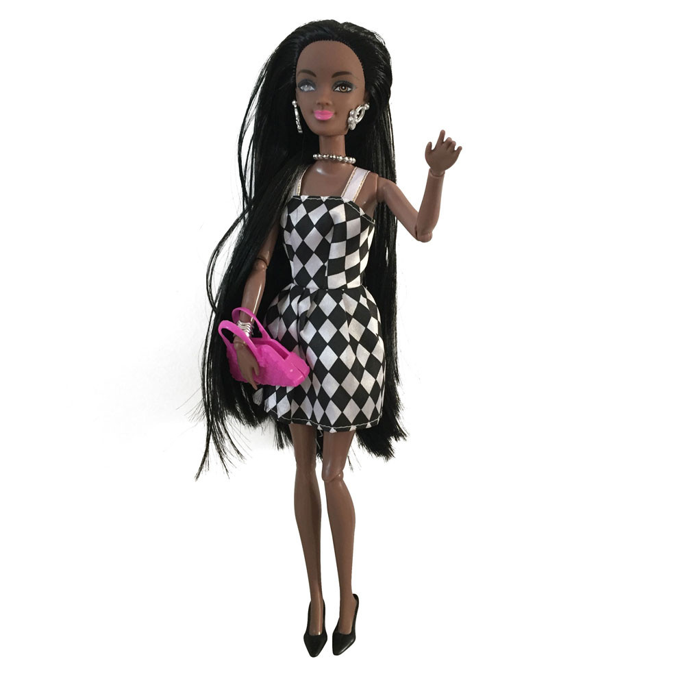 Baby Movable Joint African Doll Toy Black Doll Best Gift Toy