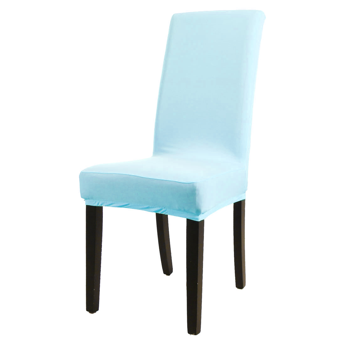 Spandex stretch washable dining chair cover protector seat slipcover sky blue