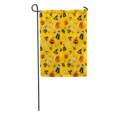 LADDKE Bat Halloween Party All Hallow Eve Repetitive Saints Holiday Garden Flag Decorative Flag House Banner 12x18 inch - History Of All Hallows Eve And Halloween